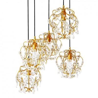 Gilded Hanging Lamp Lobmeyr Vienna